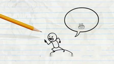 【微微一笑】铅笔人搞笑动画创意涂鸦:镜花水