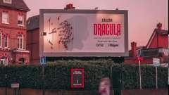 **C为开年大剧《德古拉》设置的户外广告牌,随