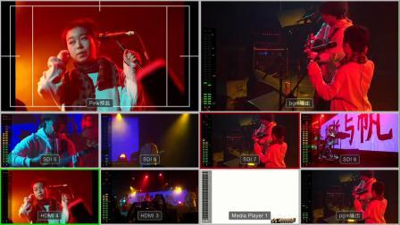 斯斯与帆的疆进酒音乐现场导播台分割屏,虎虎音乐台制作2