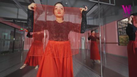 12.27叶子老师带学员钢管舞《惊鸿一面》万紫园
