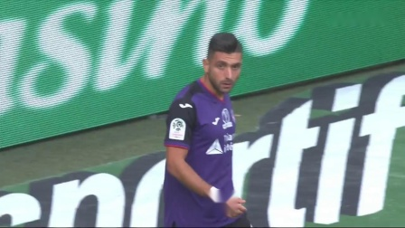 Hamouma2019.9.15,绿衣21号左边锋,法甲Saint-Etienne 2_2 Toulouse,第45、58分进球,下半场
