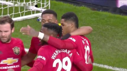 英超战报|曼联4-0诺维奇|110120|拉什福德双响红魔迎新年首胜