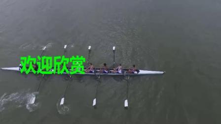 航拍划船赛艇选手团队体育比赛(9202)1440P