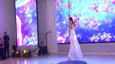 马口微马年会之王绘钢管舞《绒花》