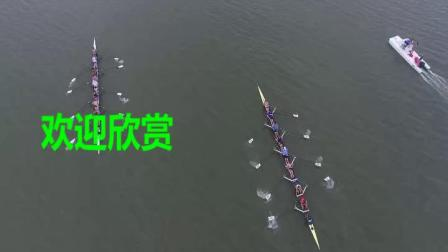 航拍划船赛艇选手团队体育比赛(9203)1440P