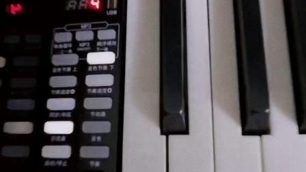 Wellcome柜式亮光烤漆电钢琴带万向轮自奏音乐