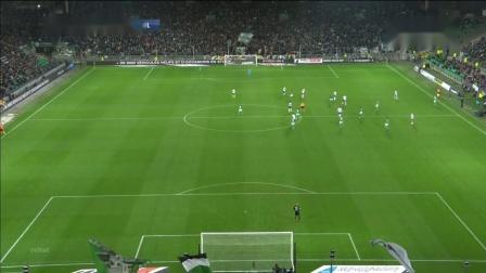 78Kolodziejczak,2019.10.6绿衣5号左边后卫法甲圣埃蒂安 1_0 Olympique Lyonnais,无助攻进球,上半场