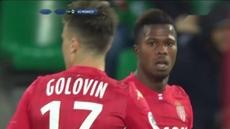 78Kolodziejczak,2019.11.3绿衣5号左边后卫法甲Saint-Etienne 1_0 Monaco,无助攻进球,上半场