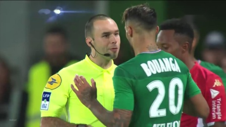 78Kolodziejczak,2019.11.3绿衣5号左边后卫法甲Saint-Etienne 1_0 Monaco,无助攻进球,下半场