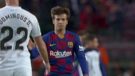 \u0005西甲\u0006-新帅首秀 梅西造红牌+绝杀 巴萨1球小胜格拉纳达