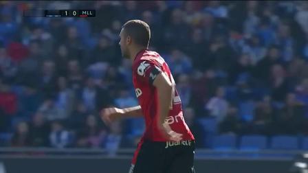 西甲23轮西班牙人1-0马洛卡 桑切斯染黄!