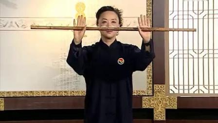 健身气功·太极养生杖功法教学03.第一式 艄公摇橹_高清