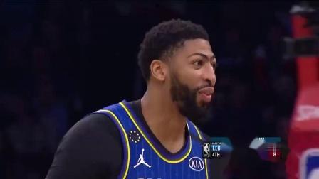 必藏!2020年NBA全明星正赛第四节精彩防守集锦,字母哥钉板大帽詹皇