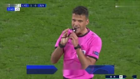 欧冠 里昂1-0尤文图斯 全场集锦