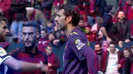 西甲27轮 奥萨苏纳1-0险胜西班牙人 精彩集锦