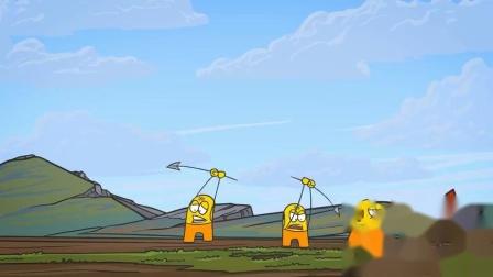 脑洞幽默动画,傻子异想天开挖坑套大象,这智