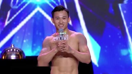 中国达人秀:烤鸭小伙展现不凡一面,钢管舞跳的太好看,金星大肆夸赞