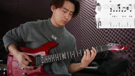 电吉他第三课(右手闷音、五和弦节奏、歌曲示范)