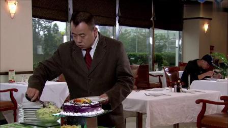 精豆儿:农村大爷第一次吃自助餐,学着城里美