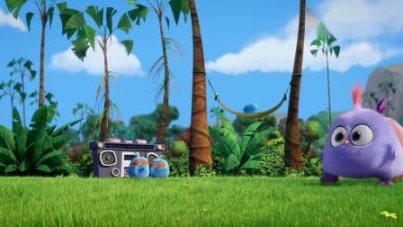 愤怒的小鸟:小蓝睡午觉,却被弟弟的音乐声吵醒,他会咋办.mp4