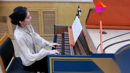 美女钢琴演奏《斯卡拉蒂奏鸣曲k380》旋律优美动