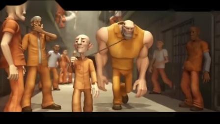 搞笑动画:小瘦子进了监狱,用蟋蟀吓懵了监狱老大,自己成了老大.mp4