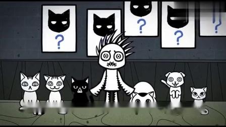 搞笑动画:弟弟找黑猫,尝试各种方法,姐姐知道却不能说.mp4