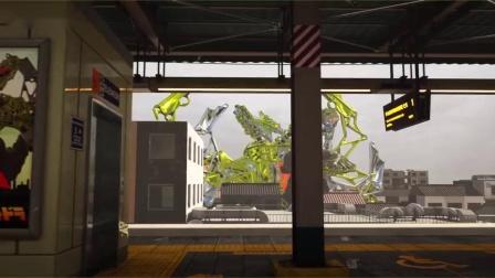 《哥斯拉》自制3D展示搞笑动画!盖刚与基多拉