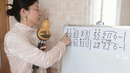 葫芦丝教学点歌的人降B调示范红梅老师讲解零基础入门教程
