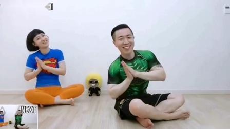 韩国可爱夫妇魔性减肥操 .减肥操30分钟 瘦身操瘦全身