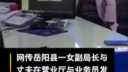 官方回应岳阳一副局长和丈夫打砸营业厅 当地纪委监委介入调查