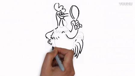 鸡年创意大爆发第2弹-姜丰手绘