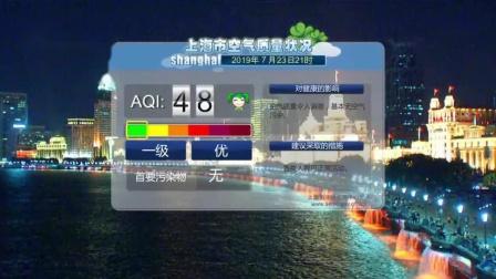 放送文化 2019年7月23日《新闻夜线》节目后没有出现 ldquo 上海市空气质量预报 rdquo
