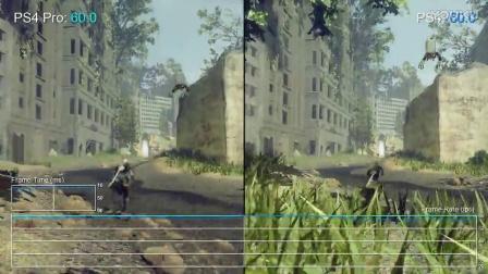《尼尔:机械纪元》PS4/PS4 Pro画面对比