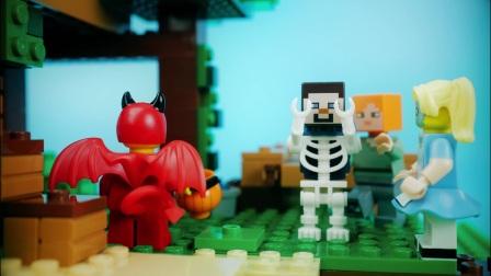 ★我的世界★Minecraft《籽岷的MC乐高玩具定格动画 闹鬼的小屋》