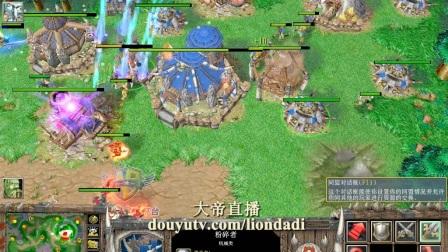 【全图侦查 偷塔RUSH】魔兽争霸大帝ORC vs WC TM