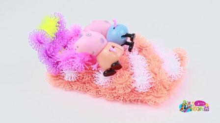 购物小能手 shopkins 蛋糕给小猪佩奇过生日 购物精灵 生日蛋糕商店玩具
