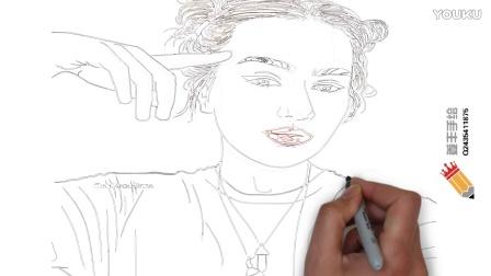 不会画画的我玩一张美人图-姜丰手绘