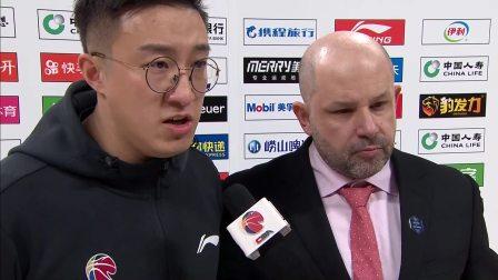 赛后采访-北京雅尼斯:非常满意球队表现,球队打的非常团结