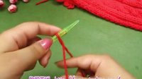 中国红麻花围巾 58