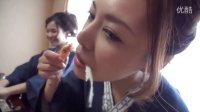 台湾美女大口吃日本螃蟹火锅