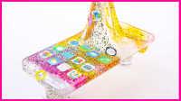超美的圣诞纪念版苹果iphone手机壳制作 儿童创意手工DIY水晶粘土试玩#欢乐迪士尼#