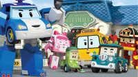 拆装珀利变形警车玩具视频 消防车罗伊 珀利警车玩具拆箱益智玩具 20