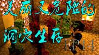 【新宇阁下】◆我的世界◆美丽又危险的洞穴世界生存 EP.14 植物魔法终于将它放在属于他的天空塔!!