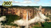 【360°全景】源片8K - 委内瑞拉安赫尔瀑布空中俯瞰 视觉震撼7680@3840