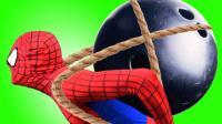 冰雪奇缘艾莎公主遇上妖怪球 搞笑蜘蛛侠来了200