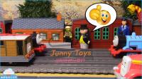 托马斯和朋友的事故将发生玩具小火车托马斯坦克发动机完整的集合抢救 惊喜鸡蛋 tomas 小火车玩具 【 俊和他的玩具们 】