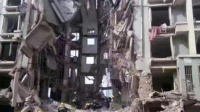 内蒙古包头市土右旗一小区居民楼天然气管道爆炸 殃及全楼