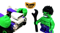 【酷爱ZERO】定格动画02绿巨人浩克的车坏了,乐高积木超级英雄玩具系列