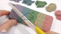 DIY如何使 颜色动力砂沙滩手机 学习颜色泥灰色马桶闪光Poop果冻冰淇淋做法 太空沙 天使沙玩法 【 俊和他的玩具们 】